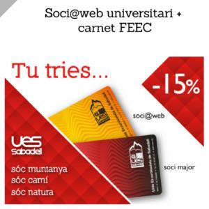 Soci@web universitari@ + Carnet Federatiu FEEC (setembre-desembre 2017)